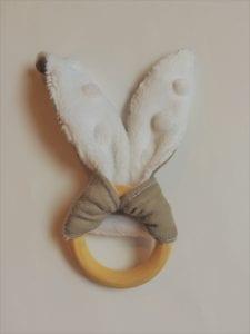 bunny ring teether
