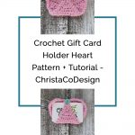 picture of text free crochet pattern image buttoned heart gift card crochet