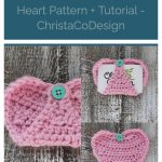 picture of pin image crochet heart Valentine's Day gift