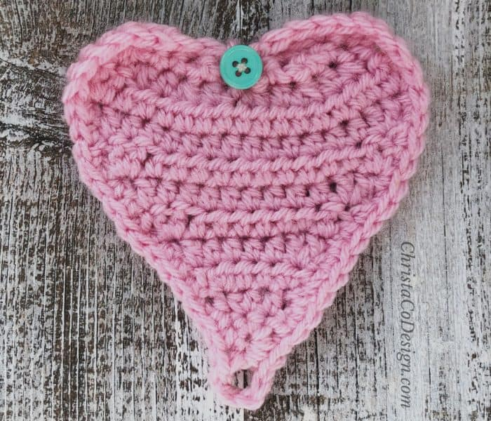 Crochet Gift Card Holder Heart Pattern + Tutorial