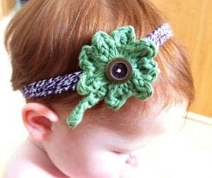 four leaf clover headband