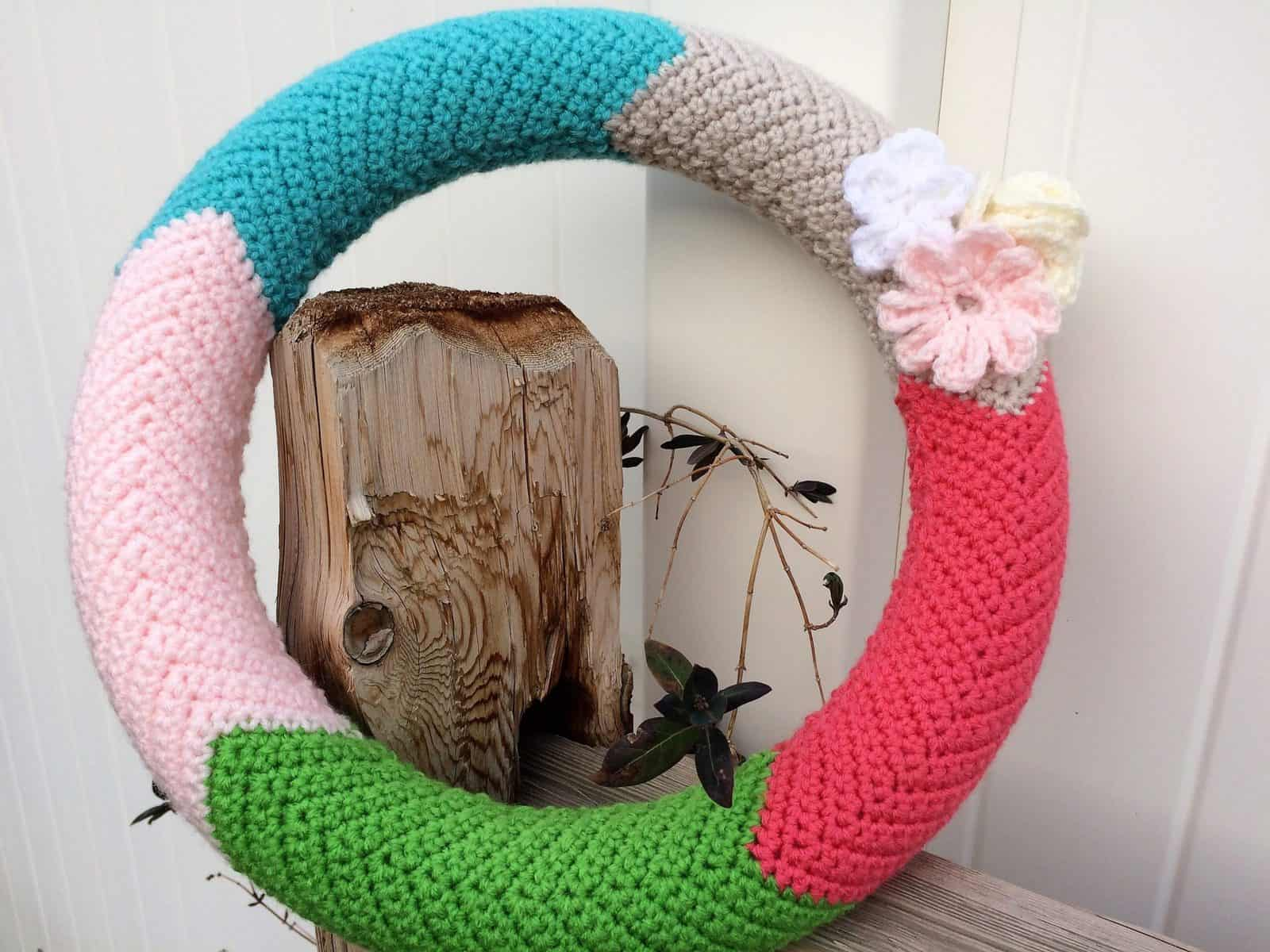 Chevron Wreath Crochet Tutorial