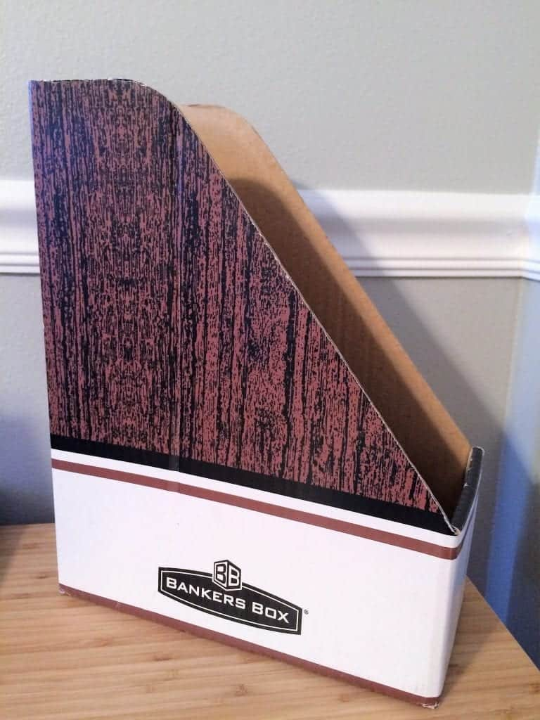 Plain brown magazine file cardboard.