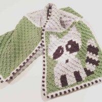 picture of crochet blanket raccoon