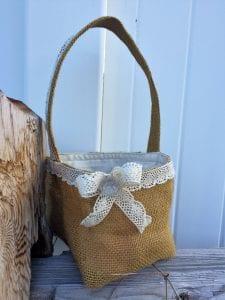 burlap Easter basket