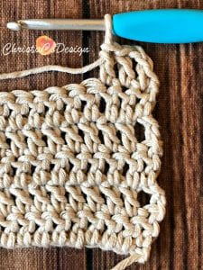 picture of first three standing stitch