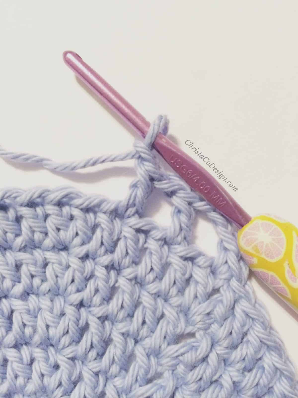 picture of crochet mesh sides