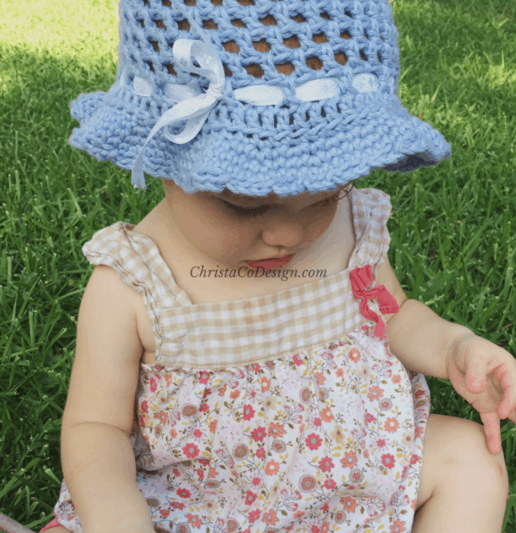 Crochet Toddler Sun Hat Tutorial