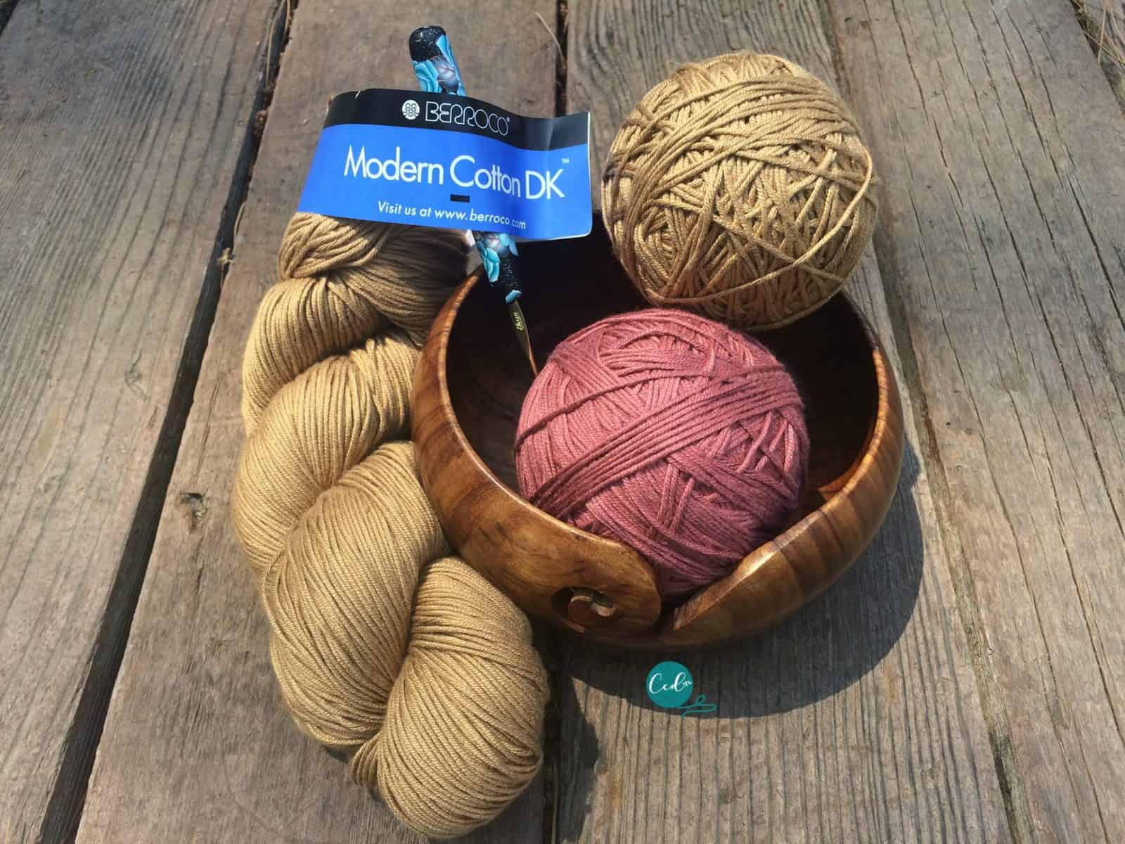 Two balls of hand rolled yarn from one hank of yarn.
