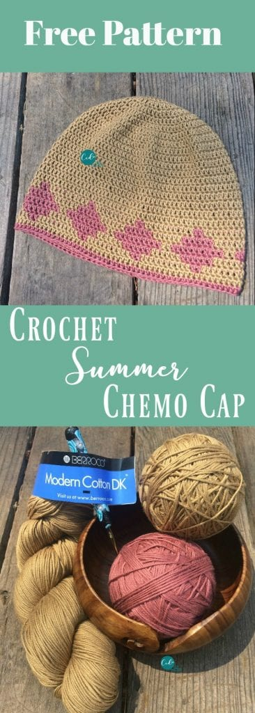 picture of pin image crochet summer chemo cap