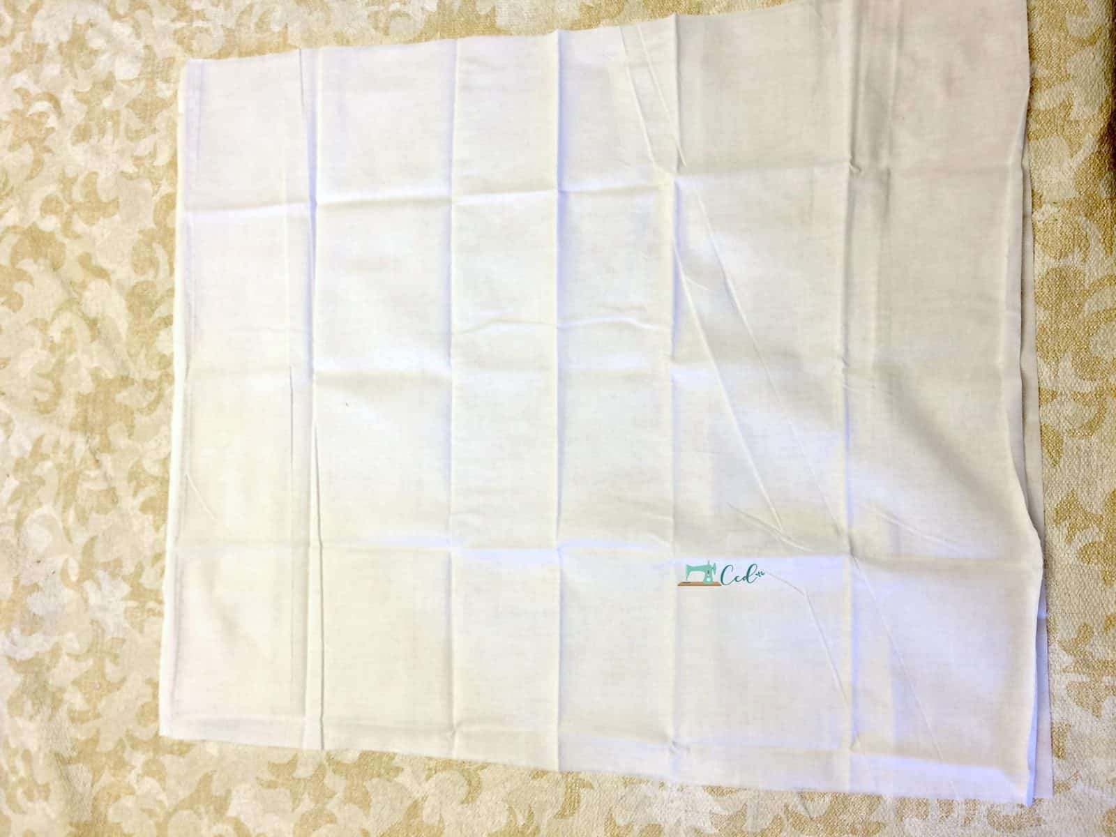 Wash and dry fabric for weighted lap pad.