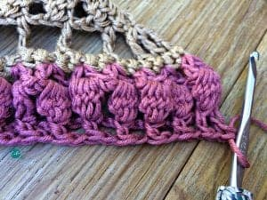 crochet shawlette
