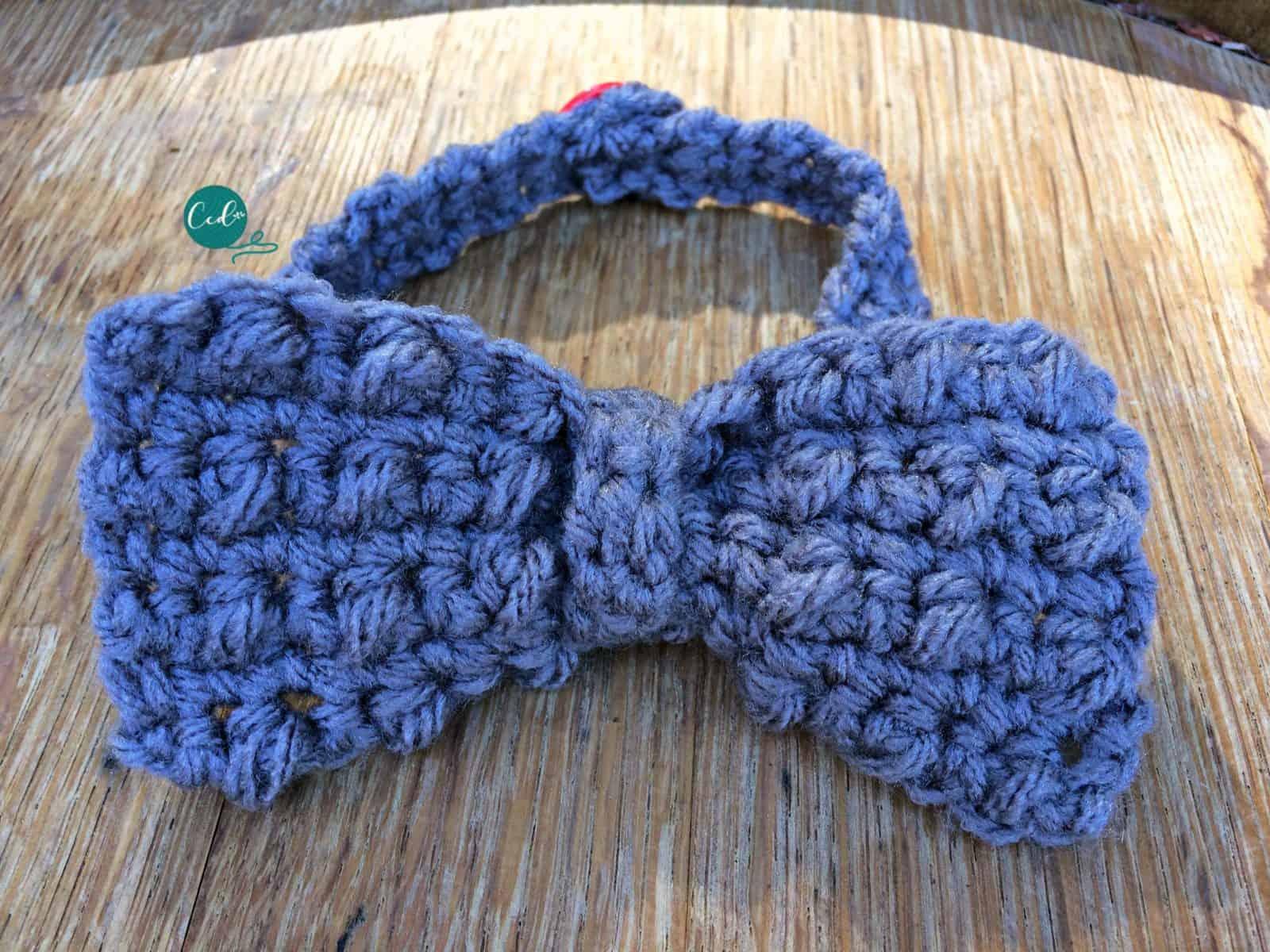 Crochet Bow Tie Tutorial & Free Pattern - ChristaCoDesign
