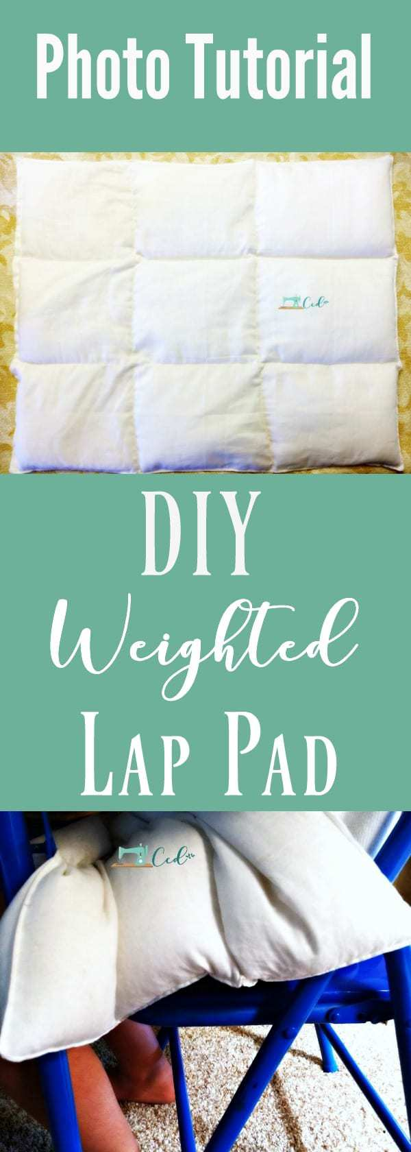 weighted lap pad