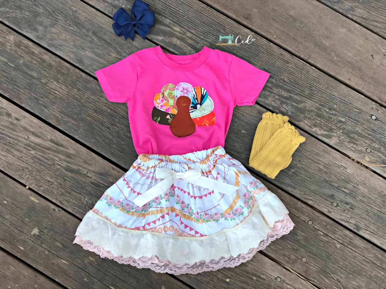 Turkey Shirt Applique Sewing Tutorial