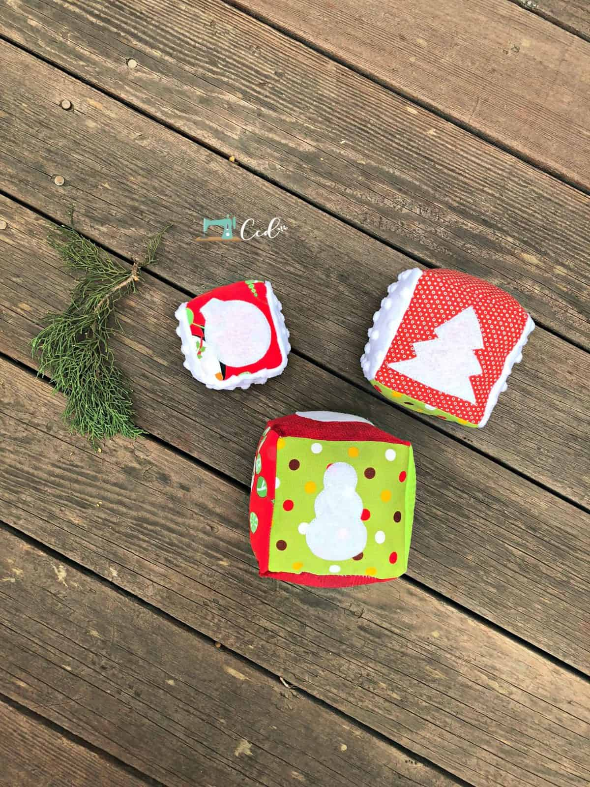 Christmas blocks hadn't sewn in reds and greens.