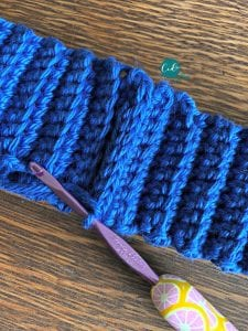 child's hat ribbing