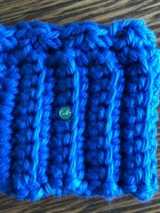 pom hat ribbing row 1