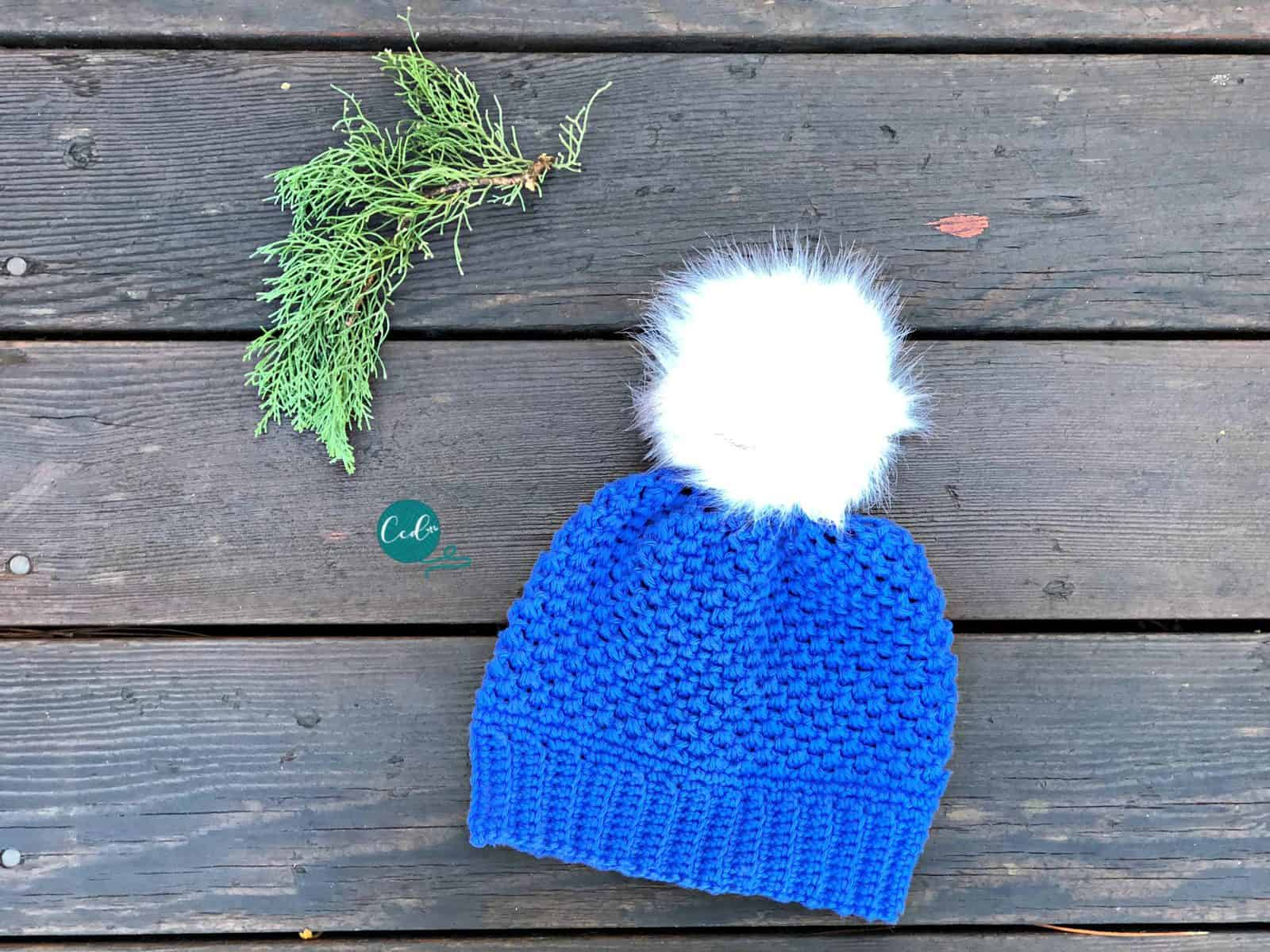 Child Size Winter Pom Hat Crochet Pattern