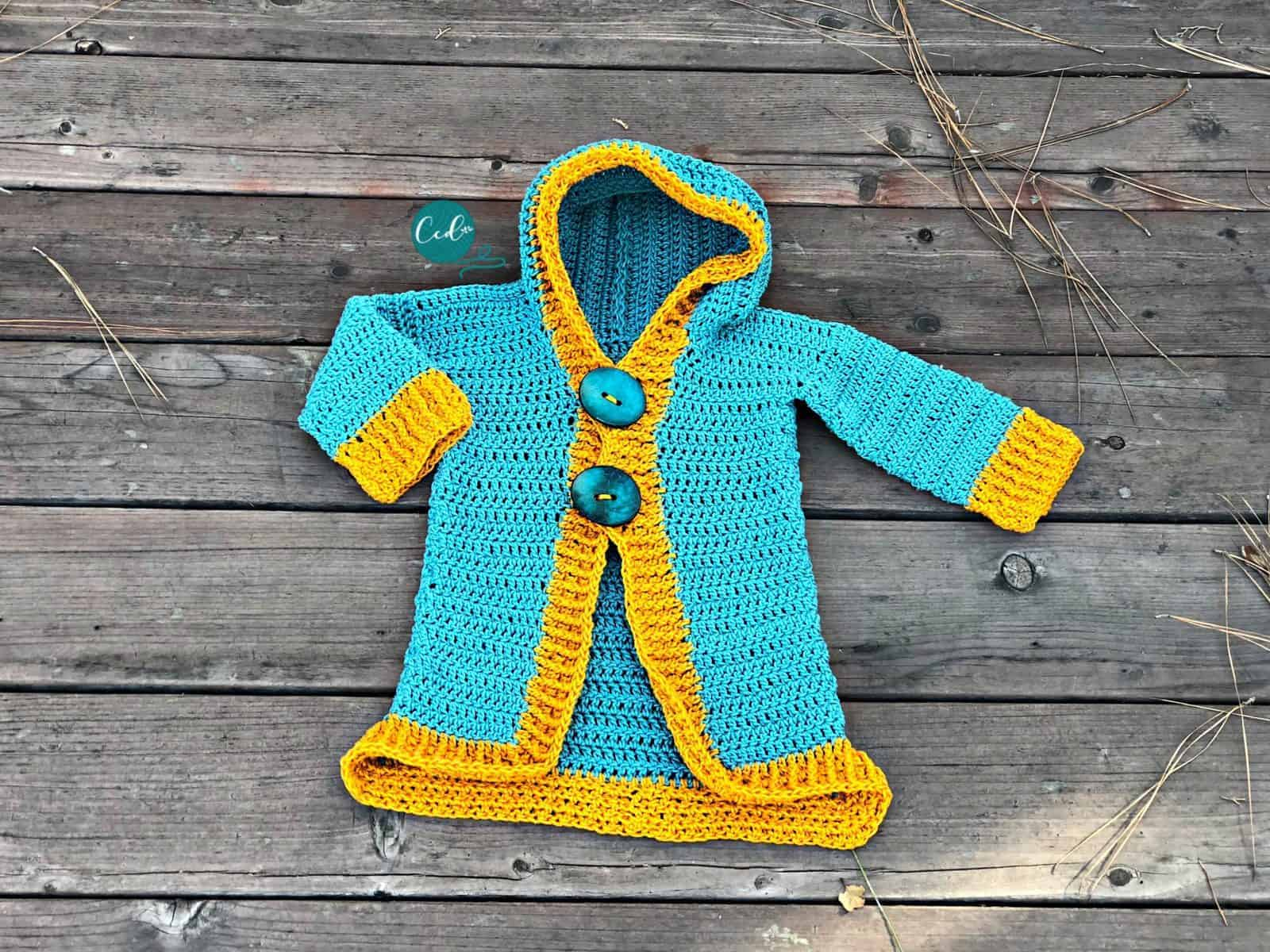 Free Crochet Toddler Hoodie Pattern Christacodesign
