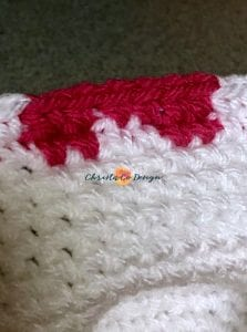 picture of next round of hearts hat close up