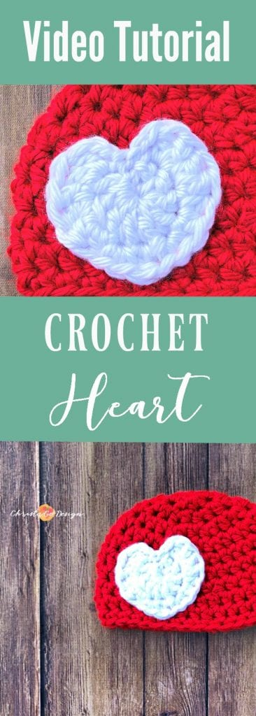 baby hat, sizes newborn to 12 months, red hat white heart, how to sew on applique, video tutorial