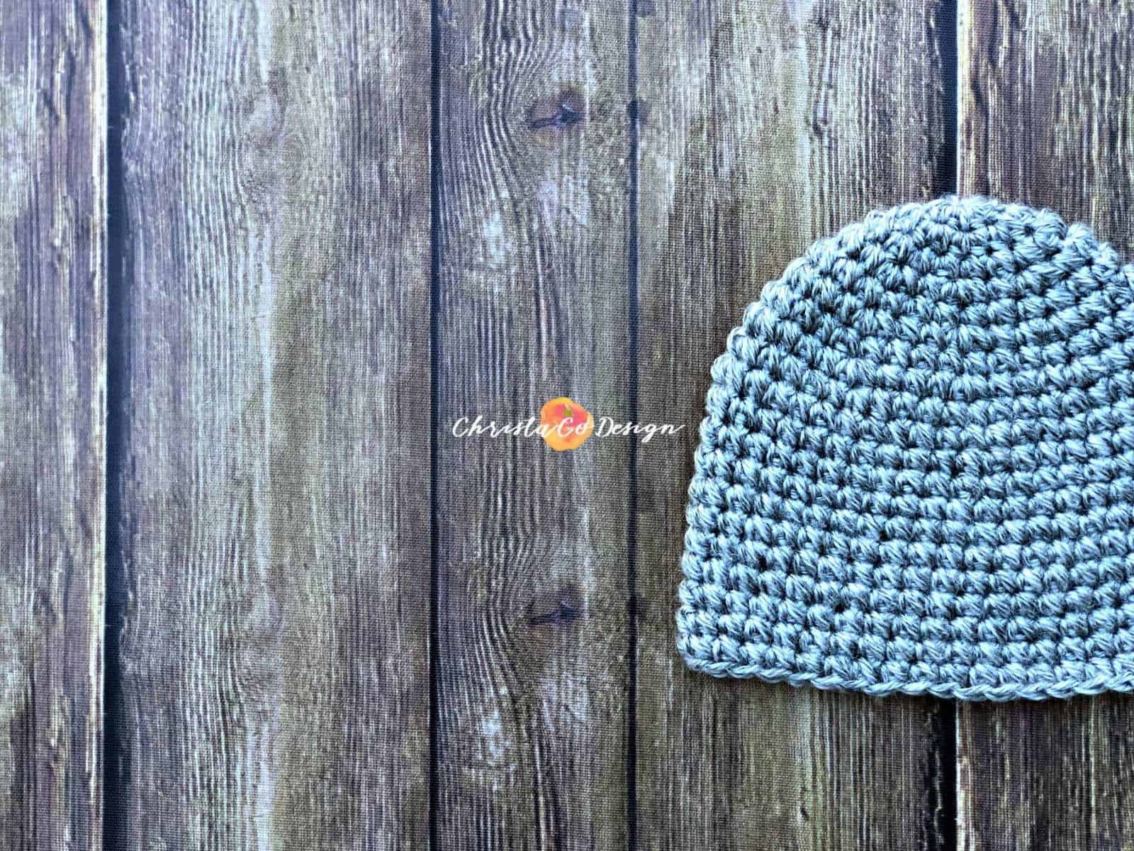Pebbled a Free Crochet Beanie Pattern in All Sizes