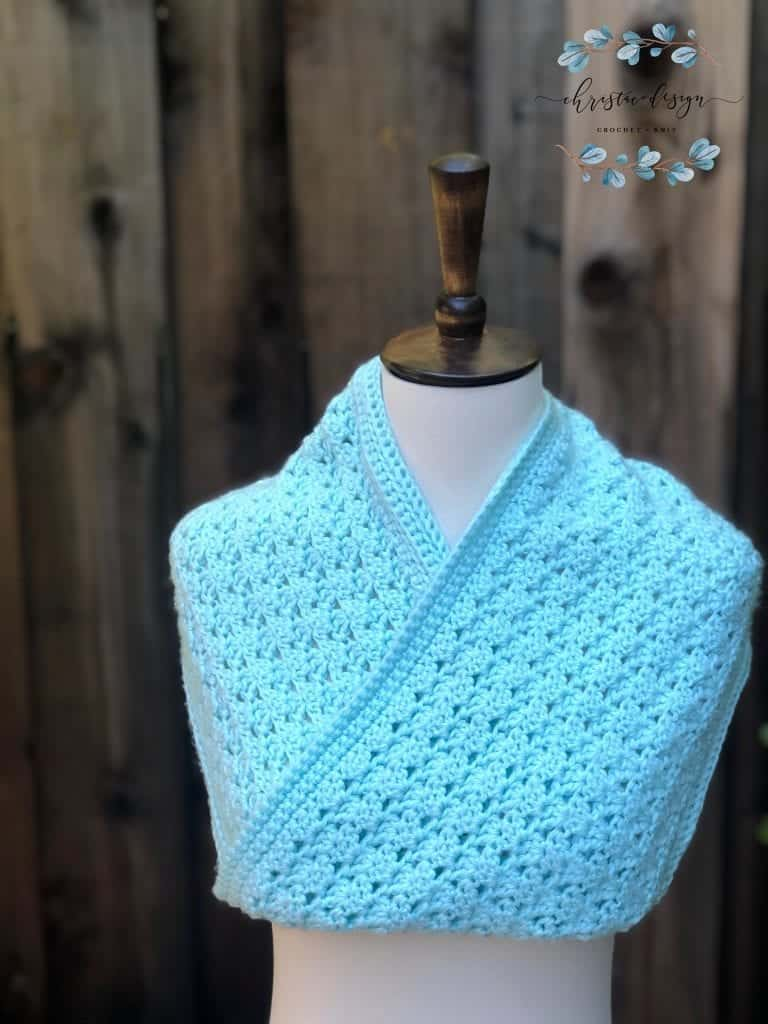 picture of one skein cowl crossed