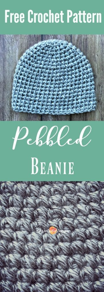 The Pebbled beanie is a free crochet hat pattern. Crochet this textured hat for the whole family, the free pattern includes all sizes.