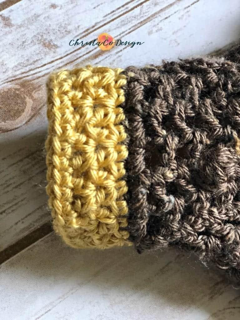 sleeve crochet edging