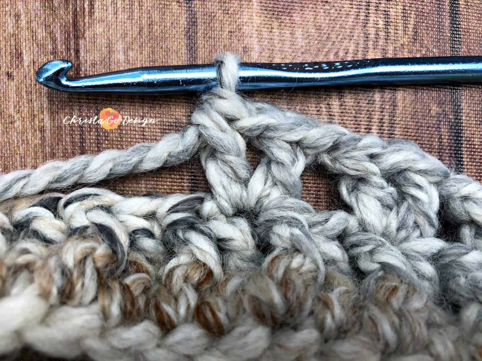 V-Stitch Crochet Photo Tutorial
