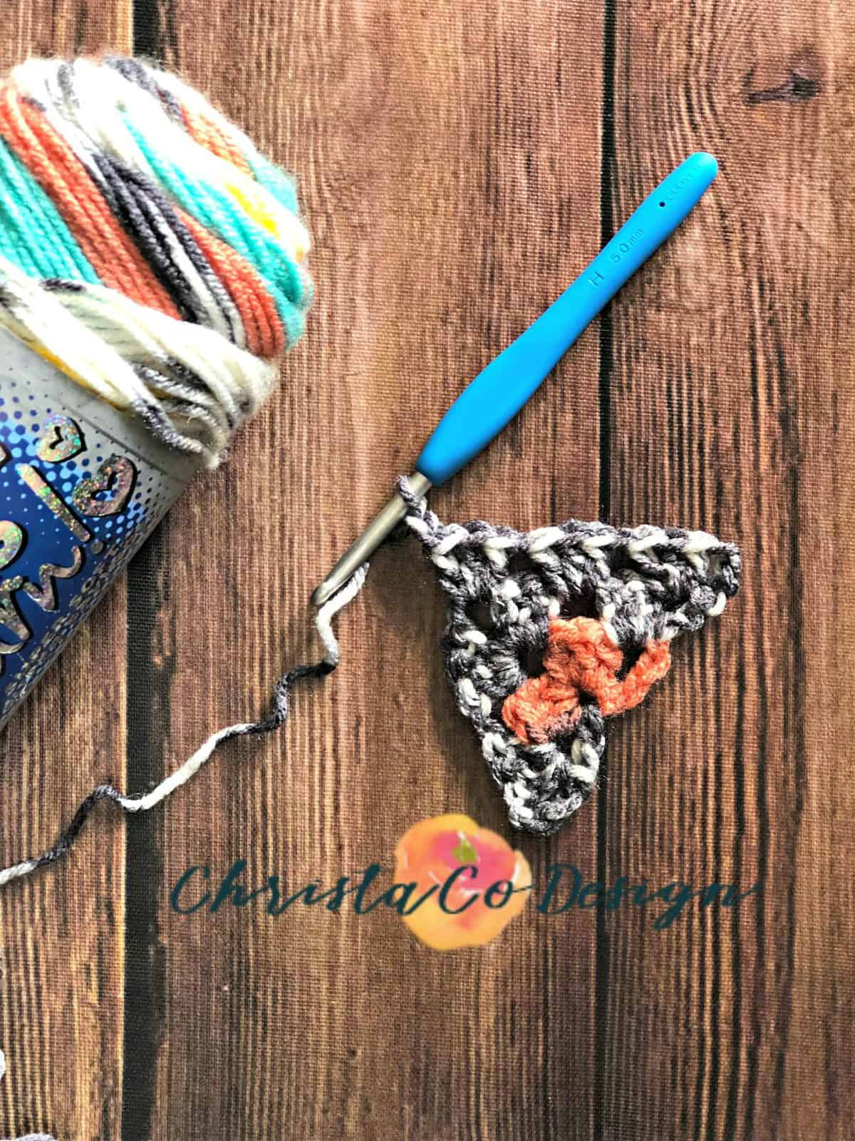 Continue to add 3 double crochets in chain 1 spaces.
