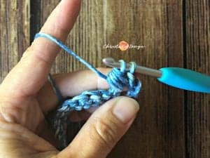 picture of first bead stitch tutorial