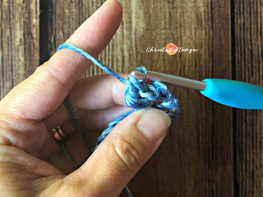 picture of finishing one bead stitch tutorial