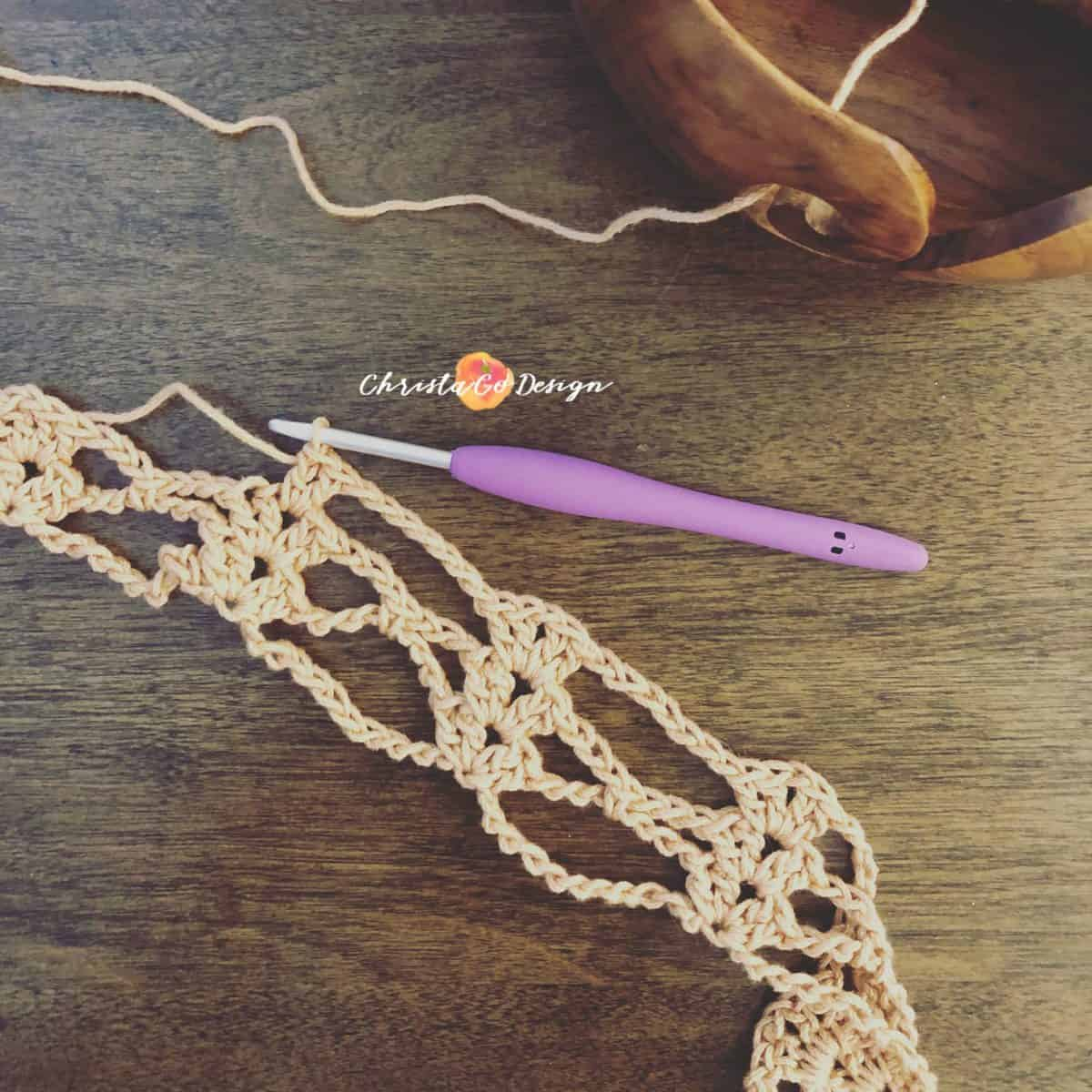 Iris Stitch Crochet Photo & Video Tutorial