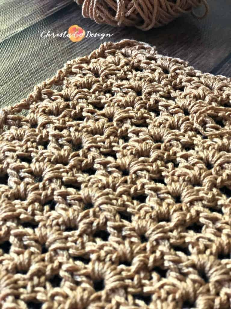 Rows and rows of golden iris stitch crochet tutorial.