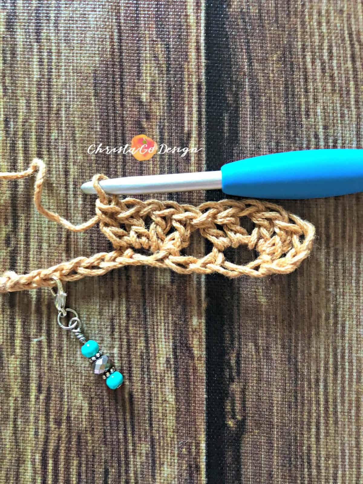Second cluster in iris stitch tutorial.
