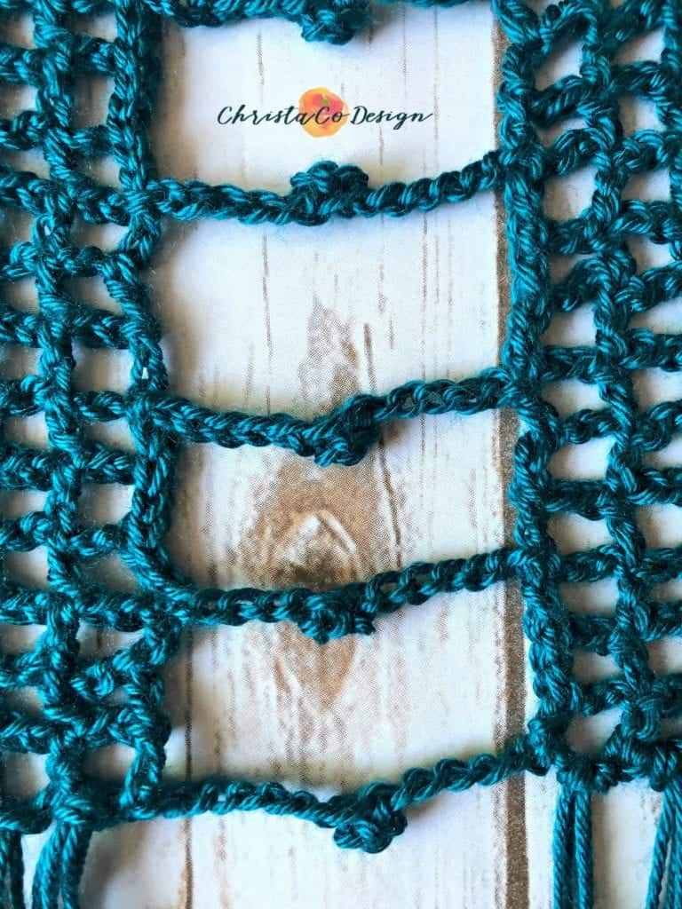 picture of crochet mesh vest sides