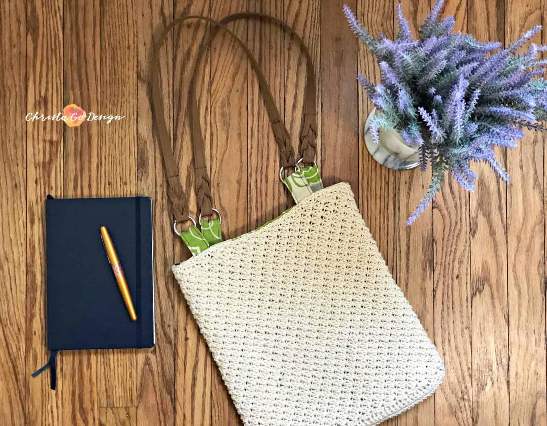 How to Line a Crochet Bag Photo Tutorial