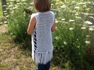 picture of mesh vest with fringe