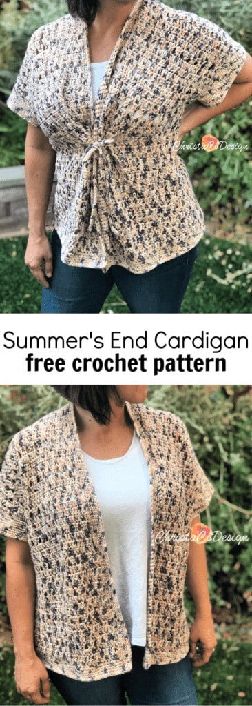 picture of pin image crochet short sleeve cardigan
