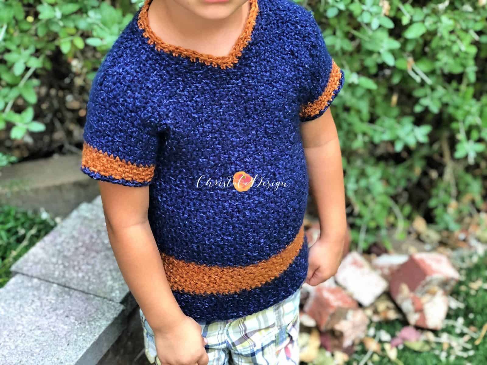 Short Sleeve V-Neck Free Crochet Pattern