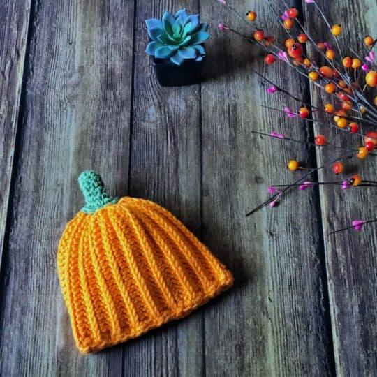 Crochet Pumpkin Hat a Free Pattern In All Sizes