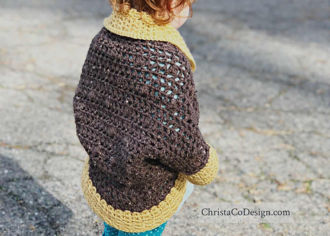 Bobble Cocoon Shrug Free Crochet Pattern