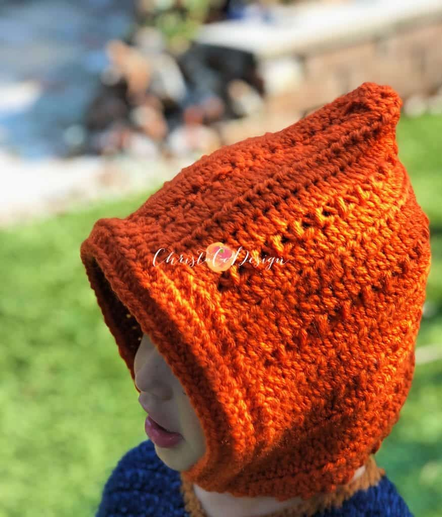 picture of crochet hat pixie style on boy