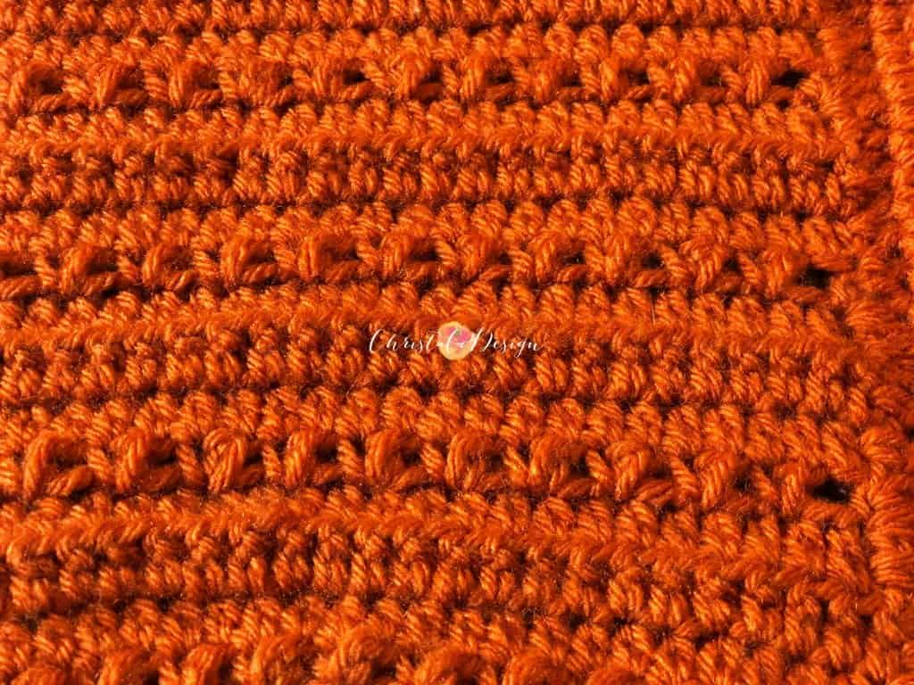 picture of close up of crochet pixie hat stitches