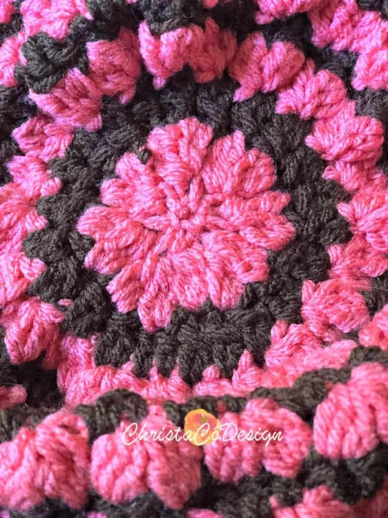 picture of crochet hat top closed