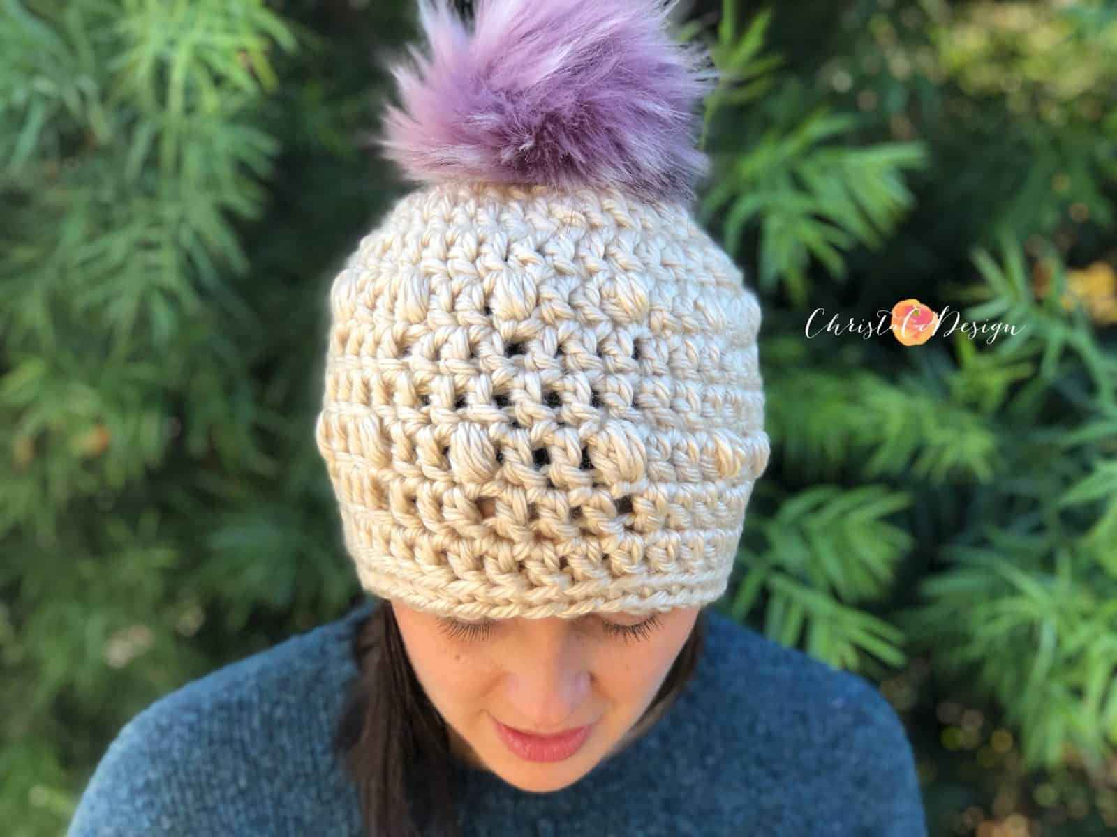 The Flurry Pop Beanie a Free Crochet Pattern