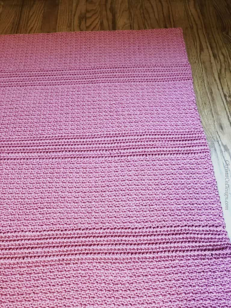 picture of crochet blanket alternating texture free pattern