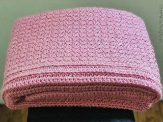 picture of crochet baby blanket in pink